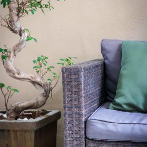 Sessel in einem Wohnraum
